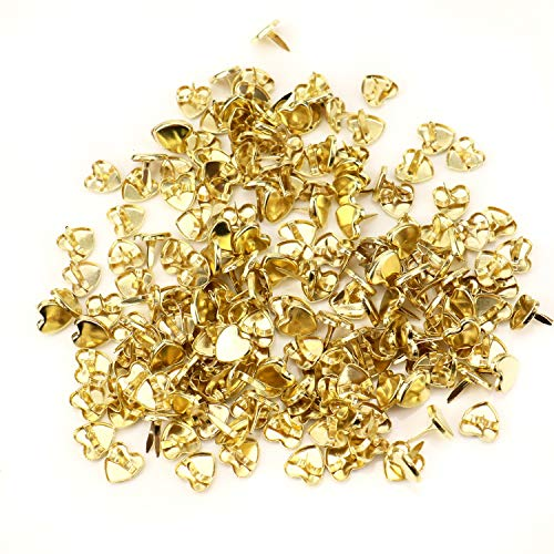 JETEHO 200 pcs Gold Heart Shaped Metal Paper -