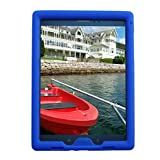 Bobj Rugged Case for Samsung Galaxy Tab A 9.7 inch Tablet, (SM-T550), Tab A Plus 9.7 inch (SM-P550), (Not for Tab A 10, SM-T580) - BobjGear Protective Cover (Batfish Blue)