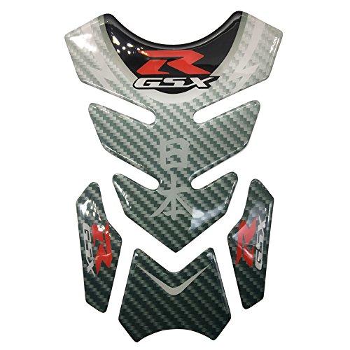 Carbon Fiber Motorcycle Tank Protector 8.6'' Pad For Suzuki GSXR 600 750 1000 1100 Gixxer ()