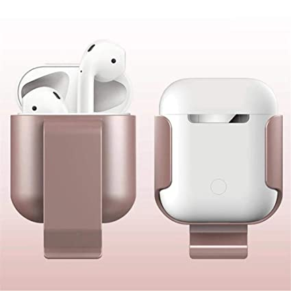 Roful Estuche de Clip para Apple Airpods Proof Protector Cubierta de la Bolsa Anti Lost True