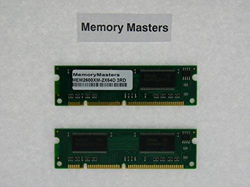 - MEM2600XM-2x64D 2x64MB Dram Memory for Cisco 2600XM Series Routers(MemoryMasters)