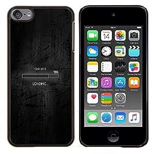 """Be-Star Único Patrón Plástico Duro Fundas Cover Cubre Hard Case Cover Para iPod Touch 6 ( Cargando Bar"""" )"""