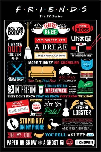 Póster Friends - Infographic - cartel económico, póster XXL ...