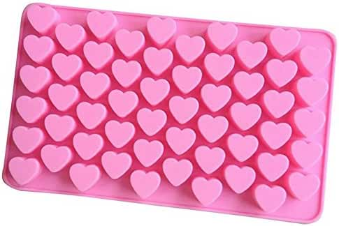 Mromick 55 Mini-Heart silicone chocolates form baking ice cubes chocolate truffles