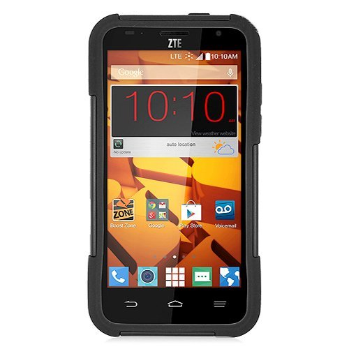 [SlickGears™] Heavy Duty Impact Armor Dual Layer Kickstand Case for ZTE SPEED N9130 Boost Mobile + Premium LCD Screen Protector Combo (Black) by Lifefactory (Image #1)