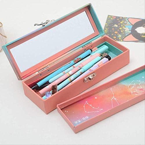 TYNMES 12 zufällige Stiftbox Big Five Gold Hakenverschluss Stiftbox New Constellation Stationery Student Pencil Box Kleiner Preis