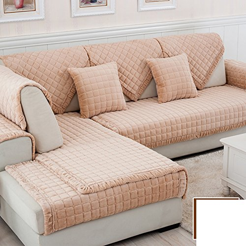 DW&HX winter Thicken Flannel plush Sofa cushions, Cover Anti-skidding Fabric Sofa cover Cushion-I 90x120cm(35x47inch) by DW&HX