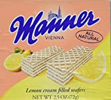 Manner Lemon Cream Filled Wafers 2.54 oz (Pack of 12)