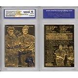 BABE RUTH & LOU GEHRIG Murderer's Row 23KT Gold Card Sculpted Graded GEM MINT 10