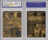 #7: BABE RUTH & LOU GEHRIG Murderer's Row 23KT Gold Card Sculpted Graded GEM MINT 10