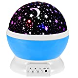 Star Gazer Best Deals - Star Projector Galaxy Nightlight Starry Projection Lamp Space Night Light Moon and Stars Sky Ceiling Projector Kids Gifts for Bedrooms with 8 Colors 3 Modes
