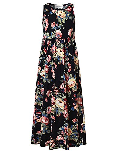Ankle Length Dresses For Girls (Perfashion Maxi Dress for Girls 10-12 Special Occasion Ankle Length Long)