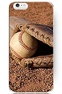 Cute Design Apple 5.5 Inch Iphone 6 Plus Hard Protective Case Cover for Teen Boys -- Retro Baseball Equipment by ruishername