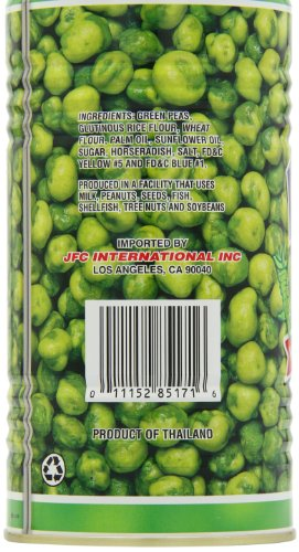 Hapi Hot Wasabi Peas, 9.9-Ounce Tins (Pack of 4)