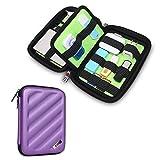 BUBM Portable EVA Hard Drive Case Travel Organizer for Electronics (1 Purple Medium)