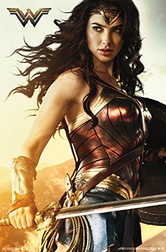 "Trends International Wonder Woman Shield Wall Poster, 22.375"" x 34"""