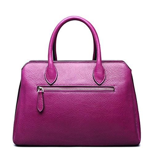 Jsix Schultasche Handtasche Umhängetasche Henkeltasche Leder Tasche Damen Pink