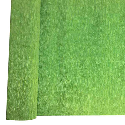 Color: Moss Green 8ft Length//20in Width Just Artifacts Premium Crepe Paper Roll