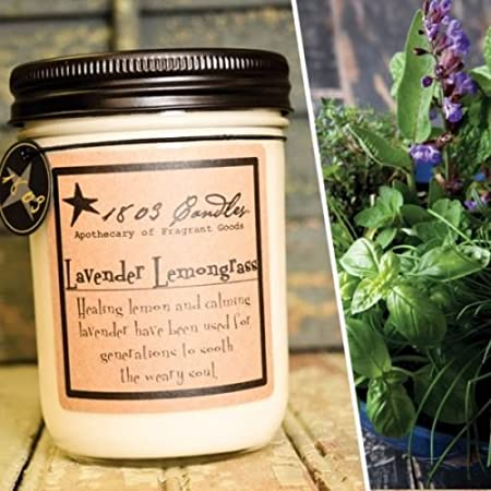 Jar Soy Candles - 1803 Candles Northwoods Cabin 14 oz