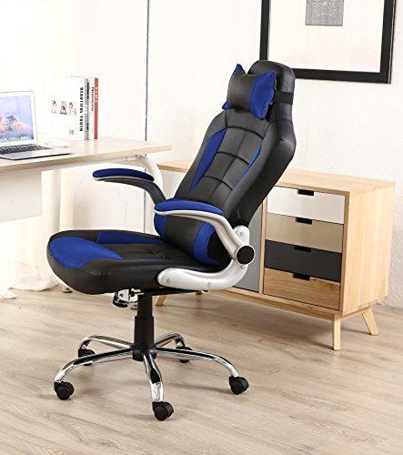 btexpert executive pu leather high back swivel racing office chair ergonomic gaming computer. Black Bedroom Furniture Sets. Home Design Ideas
