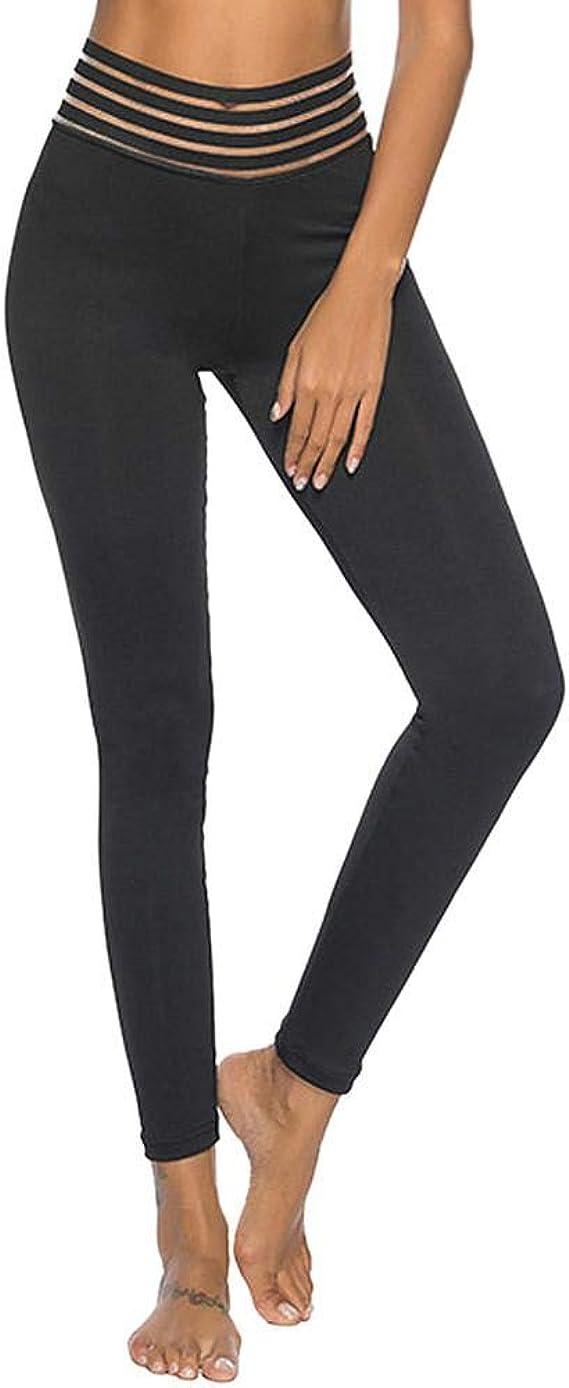 VJGOAL Mujeres Casual Moda Breve Negro de Cintura Alta Pantalones ...