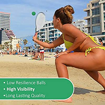 W4W Beach Paddle Ball Replacement Balls – Extra Balls for Pro Kadima & Smashball Racket (Set of 7 Balls): Toys & Games