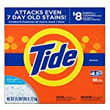 Tide Original HE Turbo Powder Laundry Detergent, 68 Loads, 95 Oz