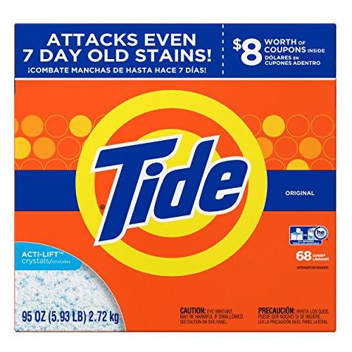 Tide HE Laundry Detergent, Original Scent, Powder, 95 oz Box