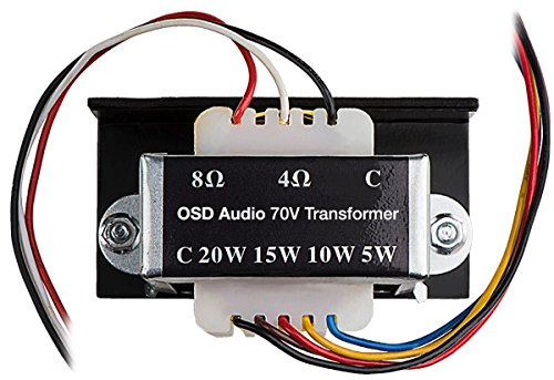Speaker Transformer - Commercial 70V Transformer Tap 8Ohms , 20W 15W 10W 5W OSD Audio SP70