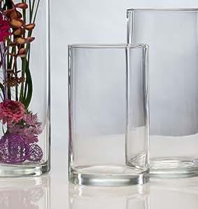 Sandra Rich 360091-Jarrón, vidrio, transparente, 22x 14x 11.8cm