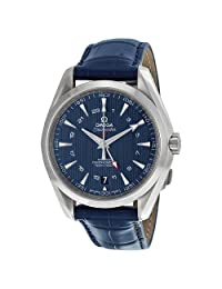 Omega Seamaster Aqua Terra Blue Dial GMT Mens Watch 23113432203001