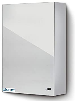 Plantex Platinum 304 Grade Stainless Steel Bathroom Mirror Cabinet (10x16 Inches)