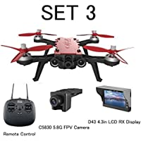 Drone With Camera Live Video FPV Drone With Goggles,Amazingbuy - MJX Bugs 8 Pro B8pro 5.8G 720P 4CH Brushless Motor Angle/Acro Mode Switch High Speed RC Racing Helicopter Quadcopter (SET 3)