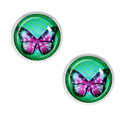 [Darkey Wang Woman Fashion Retro Beautiful Butterfly Gem Earrings, To Love The Best Gift(4#)] (Spider Gem Earrings Child)