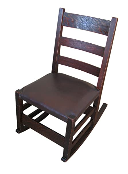 Image Unavailable - Amazon.com: Antique Gustav Stickley Sewing Rocking Chair F6100