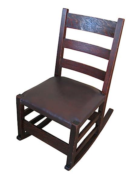 Antique Gustav Stickley Sewing Rocking Chair f6100 - Amazon.com: Antique Gustav Stickley Sewing Rocking Chair F6100