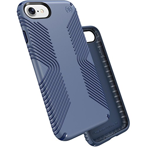 Speck Products Presidio Grip Cell Phone Case for iPhone 7 - Twilight Blue/Marine Blue