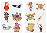 Henbrandt 24 x Pirate Temporary Tattoos Children's Birthday Loot Party Bag Filler
