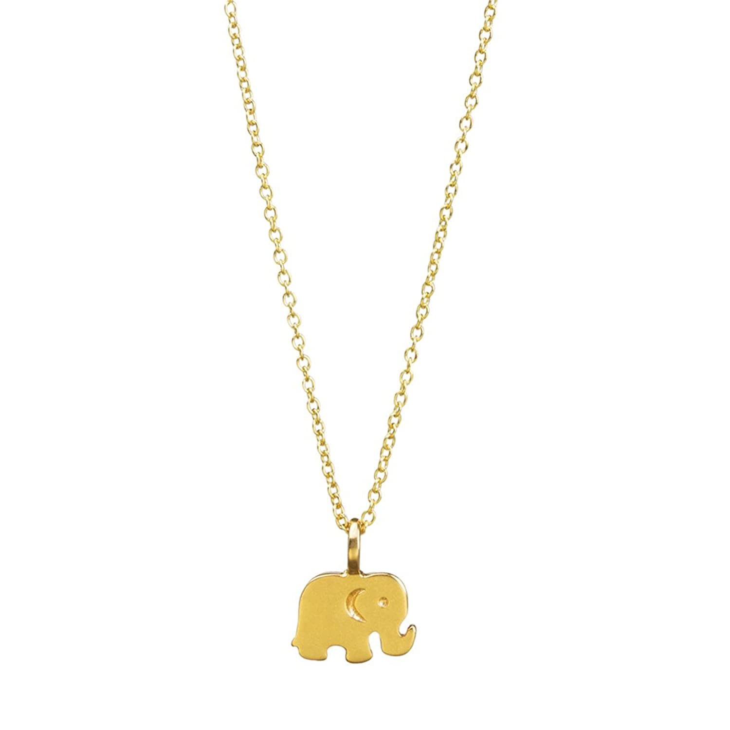"""Good Luck"" Gold Dipped Titanium Elephant Necklace"