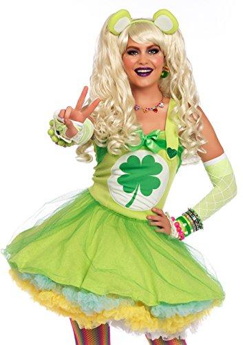 Leg Avenue Women's Care Good Luck Bear Costume Teens, Green Medium/Large -