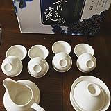 Music City Tea Gaiwan Tea Set Pure White Tea Set 11pcs With Gift Box On Sale