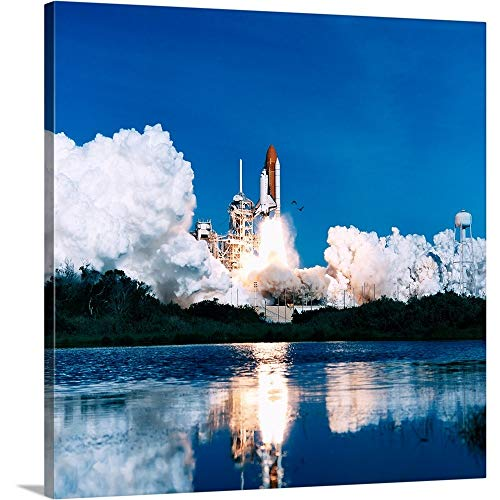GREATBIGCANVAS Gallery-Wrapped Canvas Entitled Space Shuttle Launch by Stocktrek Images 48
