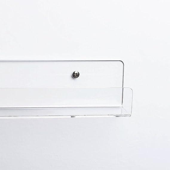 Pack de 6 expositores de acrílico transparente para esmaltes de uñas, con efecto flotante, organizador acoplado a la pared, de la marca Display4top: ...