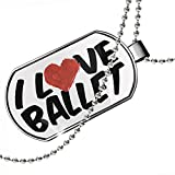 Dogtag I Love Ballet Dog tags necklace - Neonblond