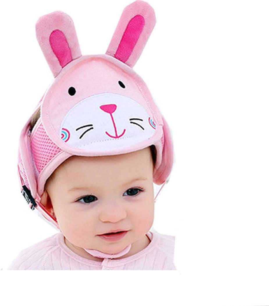 Hillento Casco de Seguridad del bebé, los niños Infantiles del niño Anti-colisión Frontal Tapa Protectora, arneses Ajustables Protector de Cabeza sin colchón Golpes de Cabeza