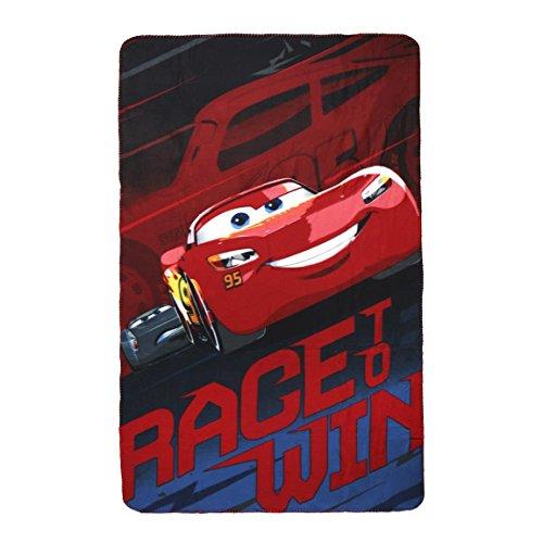Disney Cars 2200-2413 Fleece Blanket, Children's Bedding, 59 Inches, Multicolored, Lightning McQueen