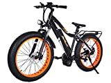 Addmotor MOTAN Electric Bike Bafang 1000W BBSHD Middle Hub Brushless Motor Ebike 30MPH Electric Bicycle 17.5AH Lithium Battery Fat Tire Mountain Pedal Assist M-5800 for Adults Men (Orange)
