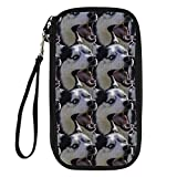 Bigcardesigns Husky Designs Travel Passport Wallet Multiple Storage Purse All In one Pouch