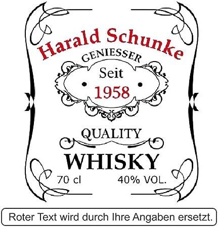 polar-effekt Botella de whisky personalizada de 700 ml con grabado – Regalo para hombres – Jarra de whisky con corcho – Diseño de calidad Whisky