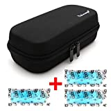 Dainayw Insulin Carrying Case, EVA Insulin Cooler Bag, Diabetic Travel Bag, Temperature Display, Waterproof, Medical with 3 Ice Packs (Black)